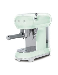 Smeg - Macchina per il Caffè Espresso Stile Retrò anni '50 Verde Pastello ECF01PGEU