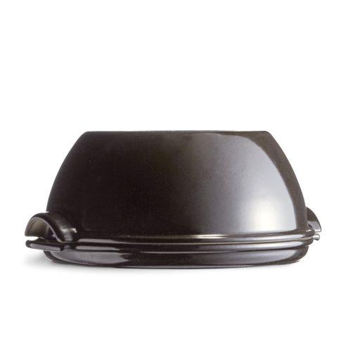 Emile Herny - Stampo cuoci pane tondo in ceramica 32 cm fusain nero carbone