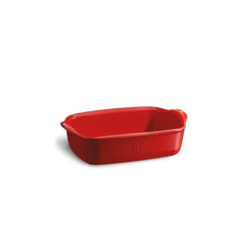 Emile Henry - Teglia pirofila rettangolare in ceramica 22 cm grand cru rosso