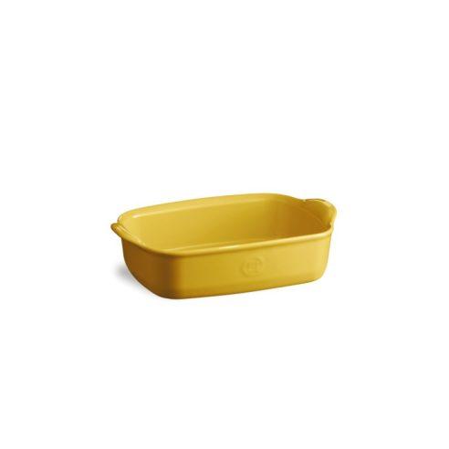 Emile Henry - Teglia pirofila rettangolare in ceramica 22 cm jaune proven giallo