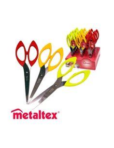 FORBICI INOX MANICO PLASTICA METALTEX