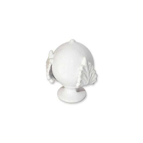 Pomo in Ceramica Portafortuna Bianco...